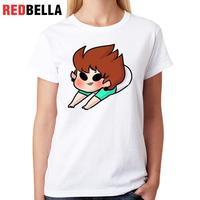 REDBELLA Tops Kadın Ulzzang Kawaii Parodi Sevimli Canavarlar Alien Karikatür Karakter Rahat Tee Gömlek Femme Baskı Pamuk T-shirt Kadınlar