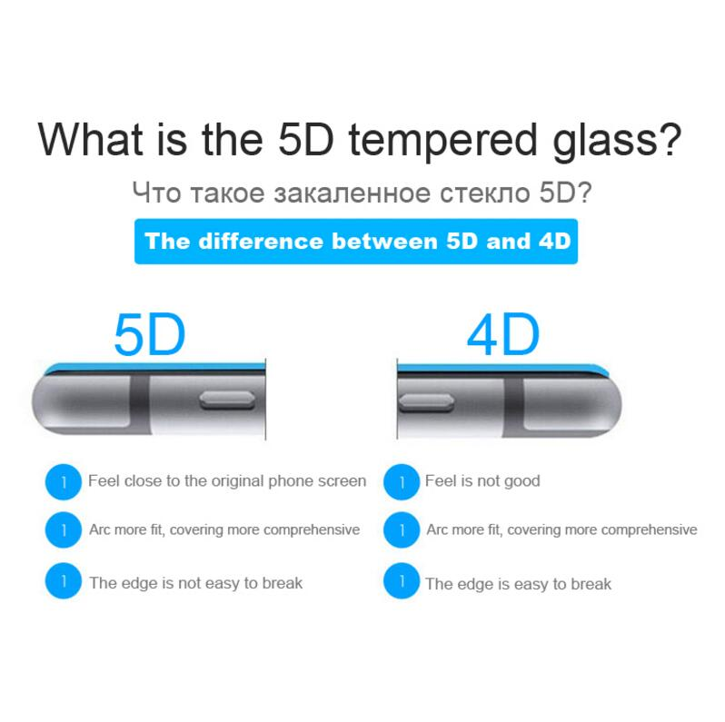 WLMLBU 5D Tempered Glass for iphone 7 glass 6s plus Screen Protector For iPhone 6 Glass Full Cover Film Curved Edge