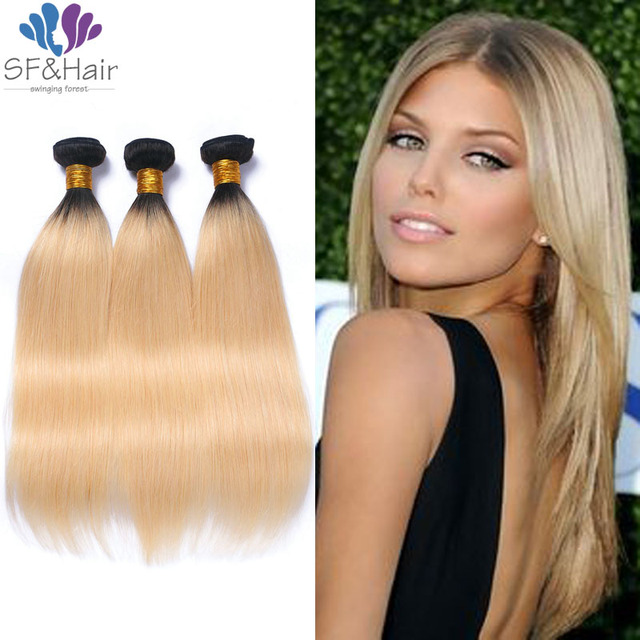 Best Blonde Hair Extensions Ombre Peruvian Virgin Hair Straight