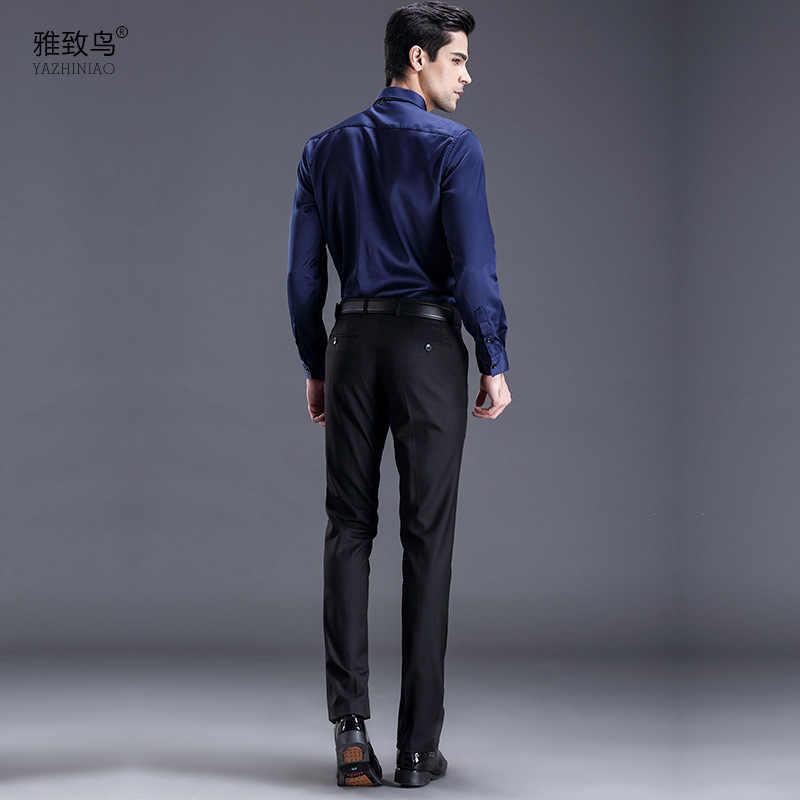 3c5521d7 Trousers Mens Fashion Brand Black Business Blazer Trousers 2019 New Arrival  Suit Pant Men Dress Pants Male Slim Fit Dress