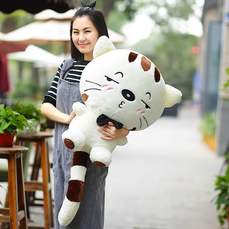цены 40cm Height Kawaii Brinquedos New Plush Toys Stuffed Animal Doll Pusheen Cat Pillow For Girl Kids Toys Big Cute Cushion Cover