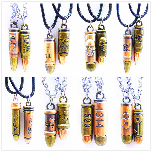 wholesale men women couple jewelry best friend christmas gift vintage choker necklace pendants accessories bullet - What To Get My Best Friend For Christmas