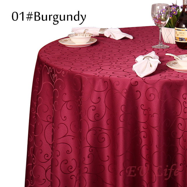 1PC Polyester White Round Table Cloth Wedding Tablecloth Party Table Cover  Square Dining Table Linen Rectangular