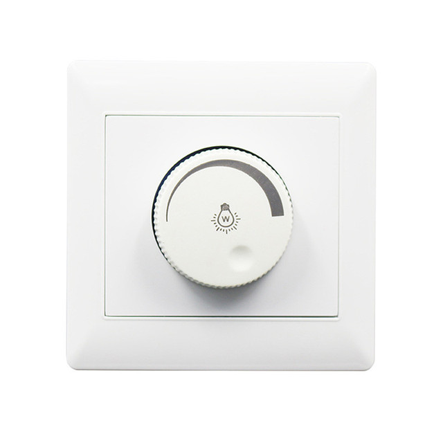 LAIDEYI 100W 220V Dimming Switch 86 Type Concealed Installation LED Dimmer Brightness Dimmers For adjustable with Rotary Switch