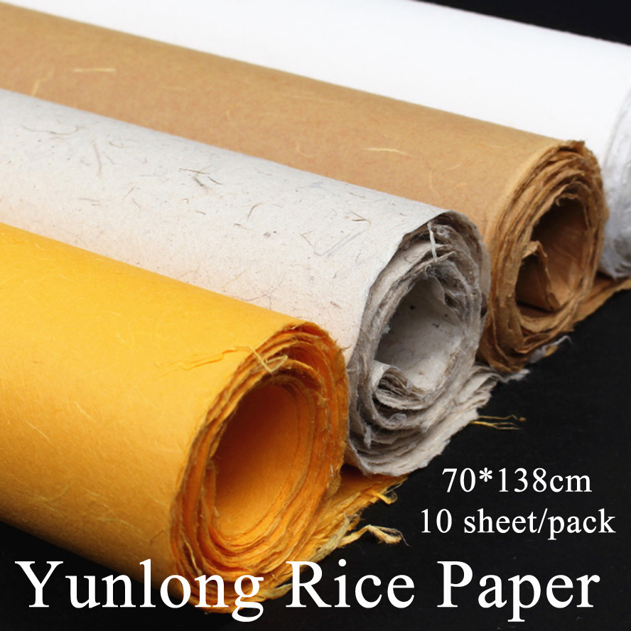 chinese painting rice paper Fiber Yunlong Artist Painting Calligraphy Xuan paper Handmade Packing paper chinese traditional rice paper rolls tracing paper for calligraphy painting writing yunlong xuan paper 0 35 20m