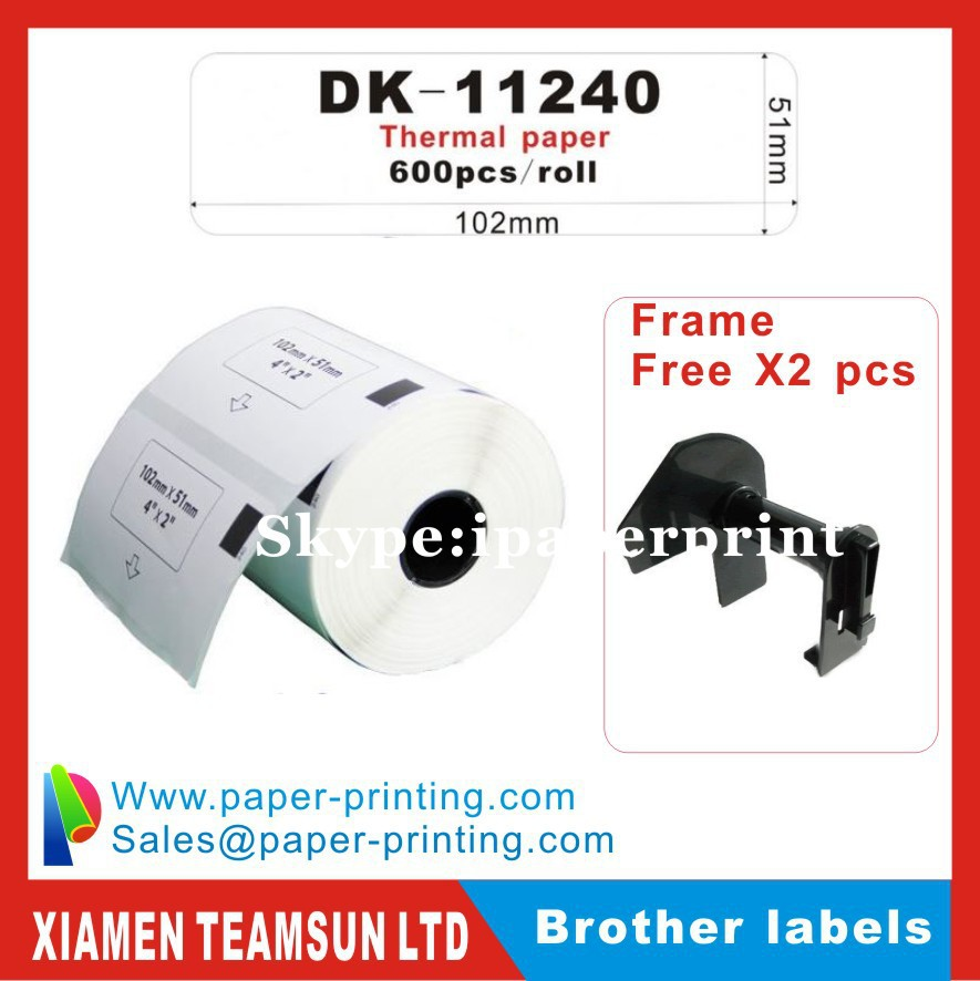 US $600 66 6% OFF|100 x Rolls Brother Compatible Labels DK 11240, DK 11240,  DK11240 free shipping-in Printer Ribbons from Computer & Office on