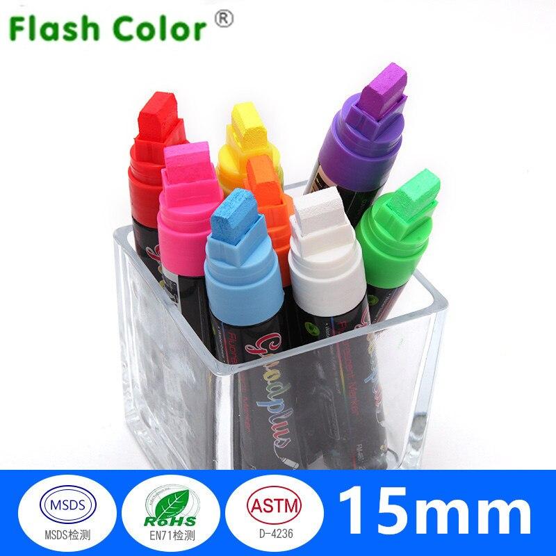 Flashcolor Marker Pen For Glass Whiteboard Fluorescent Plate Blackboard Plastic Wood Paper Paint Marker Office School Supplies
