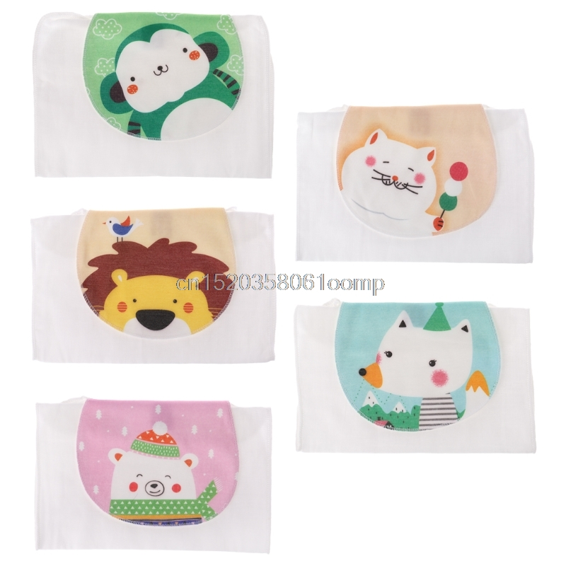 Baby Towel Absorb Sweat Back Summer Reusable Wipe Cute Animal Soft Perspiration J26 Drop ...