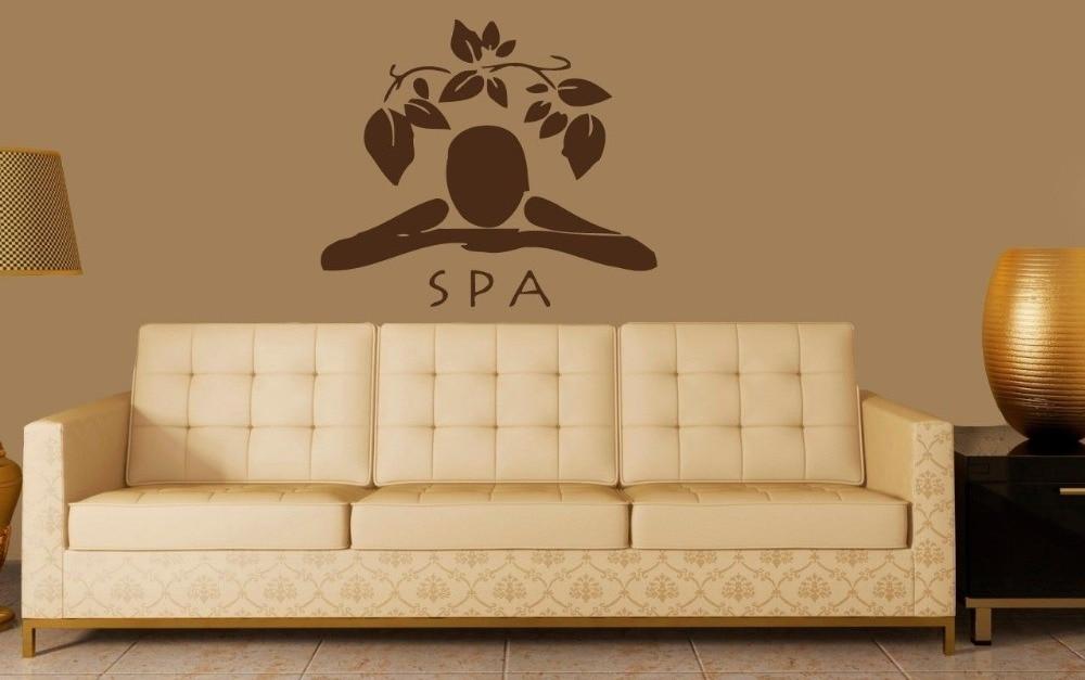 Beauty Salon Vinyl Wall Decal Girl Spa Massage Relax Health Center ...