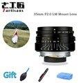 Оригинал 7 ремесленников 35 мм F2 с большой диафрагмой paraxial M-mount объектив для камер sony Leica A7II A7RII M240 M3 M5 M6 M7 M8 M9 M9P M10