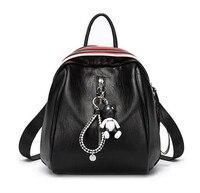 DOODOO Thời Trang Vệt Phụ Nữ Giản Dị Gấu Ba Lô PU Leather Bag Trường Cho các Cô Gái Du Lịch túi mochilas feminina D532