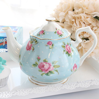 High Grade Coffee Tea Pot Modern Fashion Teapots Porcelain Large Capacity Tea Kettle Rose Morning Glory