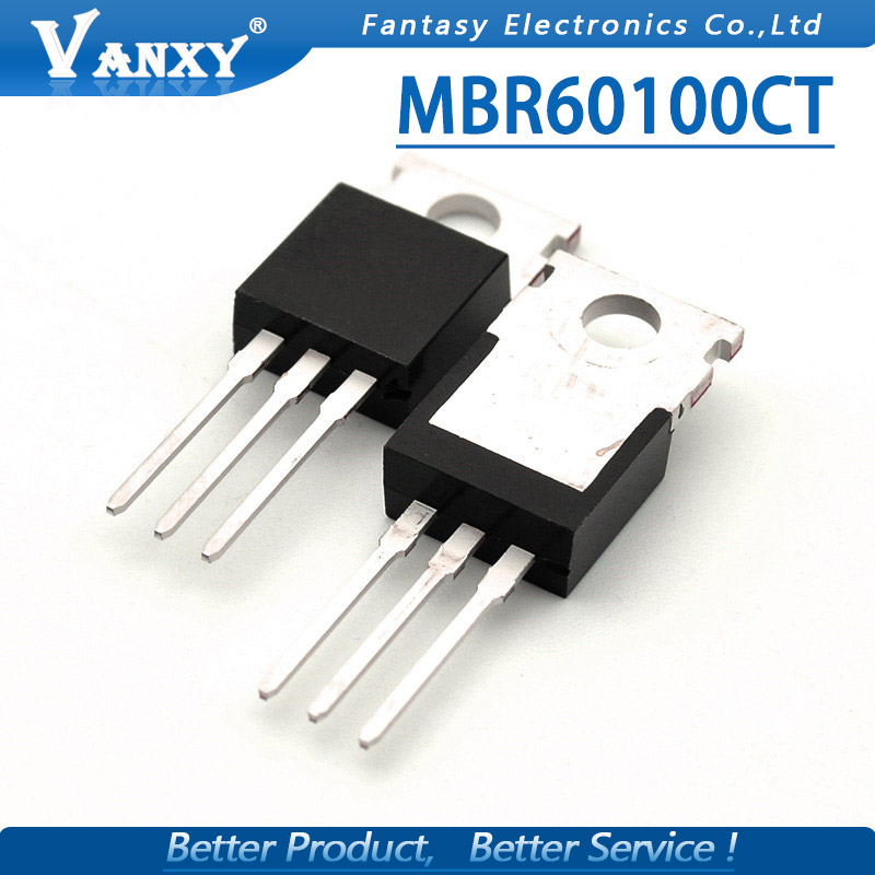 5pcs MBR60100CT TO220 MBR60100TO-220 60100CT Schottky Diode 60A 100V Original
