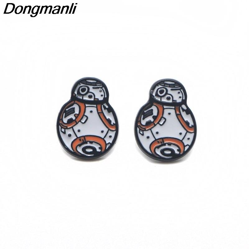 P3073 Wholesale 20pair lot Cool Resistance BB 8 Pierce Ear Stud kids Earrings For Womens Enamel