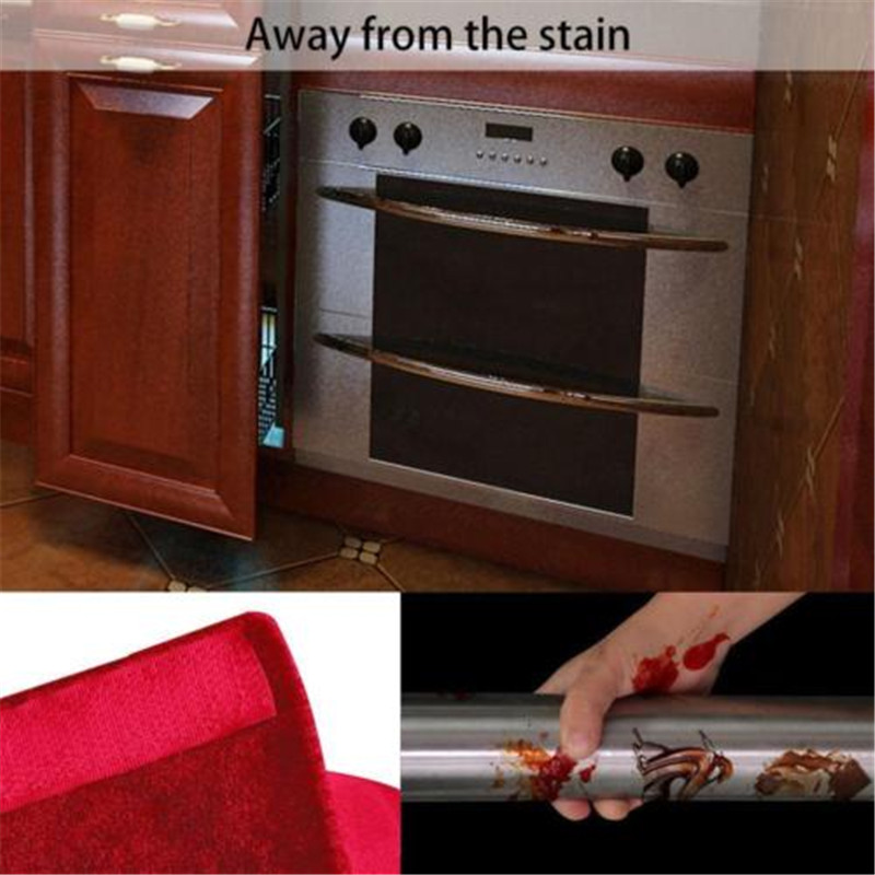 2Pcs Handle Cover Decor Smudges Door Refrigerator Fridge Oven Kitchen Appliance