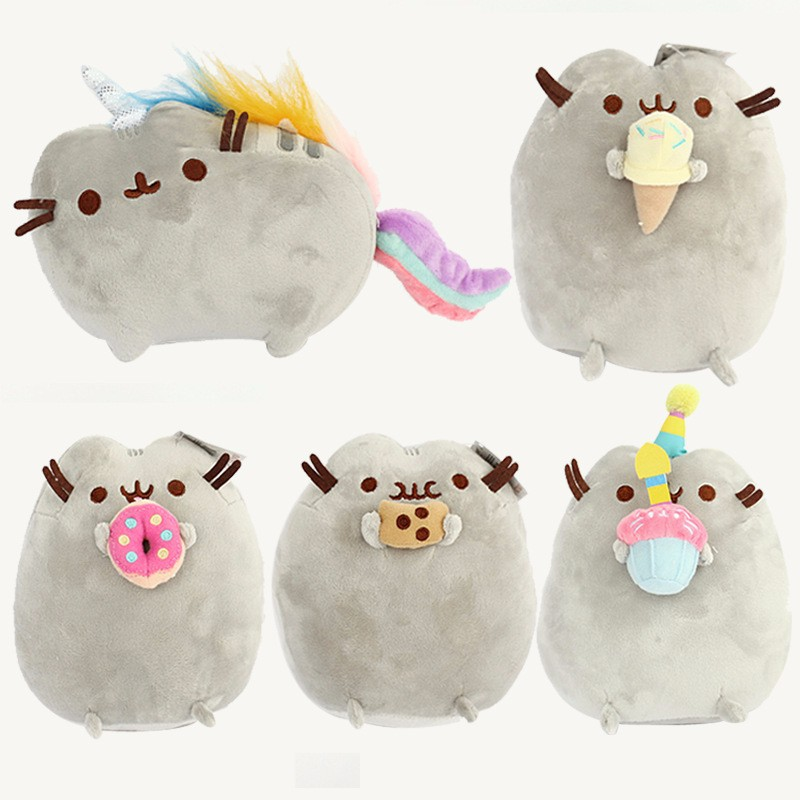 5pcs/lot 25cm Pusheen Plush Pusheen Cookie Icecream Doughn Cake Style Plush Toy Soft Stuffed Animals Toys for Kids Children fancytrader new style giant plush stuffed kids toys lovely rubber duck 39 100cm yellow rubber duck free shipping ft90122