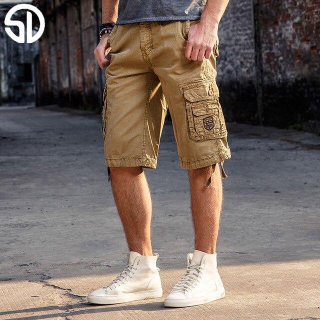 d856007cb3e2 New Cargo Shorts Brand Men Shorts Summer Masculina Baggy Short Pockets Trousers  Summer Wear Leisure 2017 Free Shipping