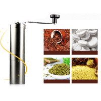 Useful Silver Stainless Steel Hand Manual Handmade Coffee Bean Mill Grinder Kitchen Grinding Tool Home Wholesale