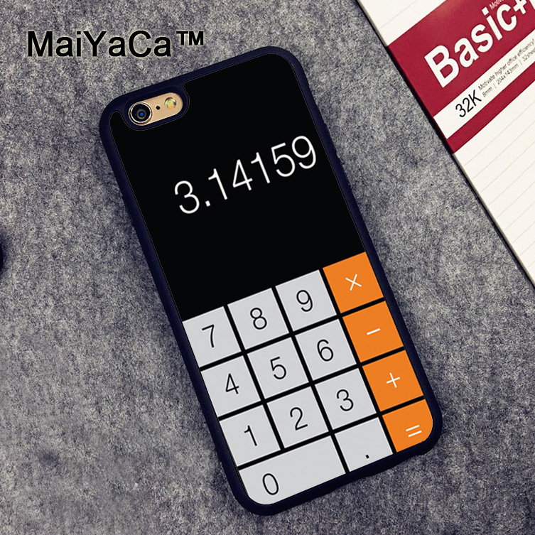 MaiYaCa Funny Prank Black Calculator Soft TPU Cases for iPhone 6 6s Case Back Cover for Apple iPhone 6 6s Mobile Phone Capa