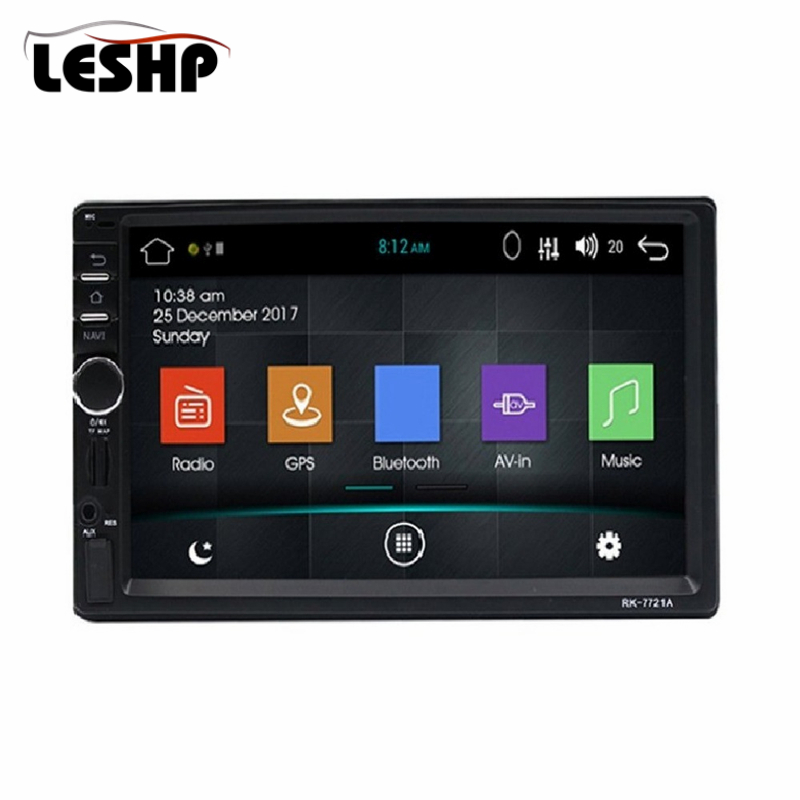 Universal 7 Inch HD 1024*600 Touch Screen Car DVD MP5 Player RK-7721A 2Din Car Radio Android5.1 GPS Navigation with European Map 7 inch universal touchscreen for car audio car navigation dvd zcr 1879 touch screen digitizer panel 164mm 100mm