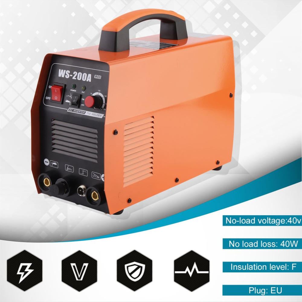 Professional Compact Welding Machine Electric DC TIG Welder Cutter Input Voltage 220V For Carbon Steel Alloy Cutting EU PlugProfessional Compact Welding Machine Electric DC TIG Welder Cutter Input Voltage 220V For Carbon Steel Alloy Cutting EU Plug