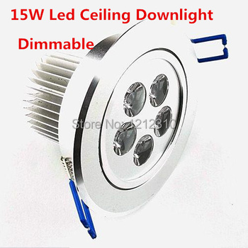 15W 5x3W Dimmable Ceiling Downlight Epistar chip Recessed LED Light 110V/220V For home illumination 5pcs/lot Freeshipping