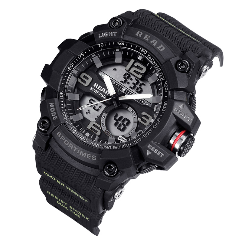 90001 Mens Sport Watches REDA Band Electronic Date Watch 90001 Multifunction Wrist Watch for Men Waterproof Red Black Clock90001 Mens Sport Watches REDA Band Electronic Date Watch 90001 Multifunction Wrist Watch for Men Waterproof Red Black Clock