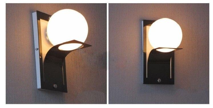 Moderno globo in metallo bagno applique da parete a led lampada di