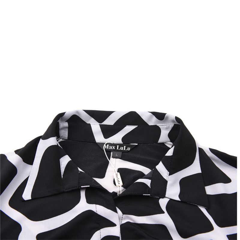 Max LuLu New Designer Fashion Marke Kleidung Plaid 3d frauen lange Kleider Frau Dashiki Damen Plus Größe Kleid Sommer stil 4XL