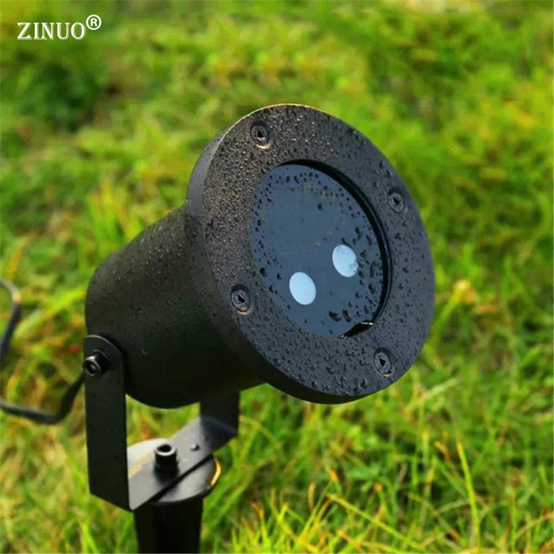 ZINUO Outdoor Moving Full Sky Star Laser Projector Landscape Shower Lamp Blue&Green LED Stage Light Outdoor Lawn Garden Light free shipping anime dragon ball master roshi pvc action figure collection model toy 25cm orange new loose