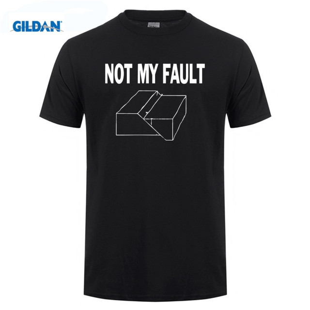 GILDAN Cotton O-neck printed T-shirt Not My Fault Funny Geology Humor T-Shirt for men