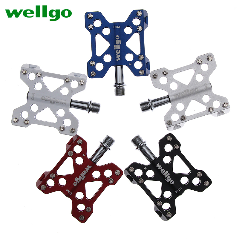 Wellgo Lightweight Aluminum Pedal Mountain Bike Mtb Bicycle Bearings Pedales Bicicleta Parts Hot Real Spd Pedals Footboard цена