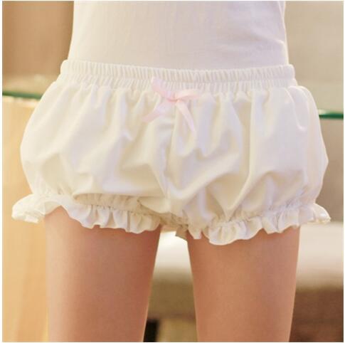 Kawaii women girl lolita Harajuku cute modal pumpkin soft bud bloomers   shorts   cosplay scanties new