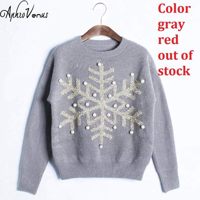 Online Shop Winter Sweater Women Pullover Candy Color Christmas