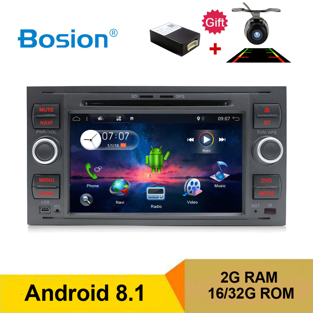 BOSION Pure Android 8 1 Car DVD GPS Navi Player Stereo Radio Audio 4G For Ford