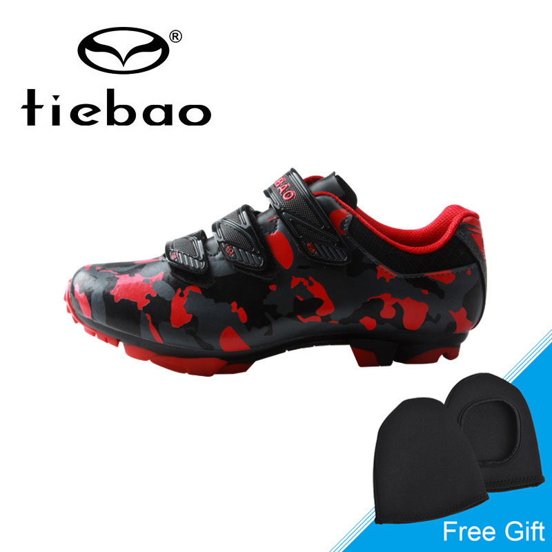Tiebao Winter MTB Cycling Shoes Mens Self-locking Mountain Bike Shoes Non-slip Wear-resistant Bicycle Shoes Sapatos ciclismo racmmer cycling gloves guantes ciclismo non slip breathable mens
