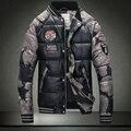 Venta caliente de Los Hombres 90% plumón de pato abrigo de invierno chaqueta caliente de Los Hombres de alta calidad de pato gris abajo y abrigos esquimales chaqueta de la capa del Hombre de la Marca ropa