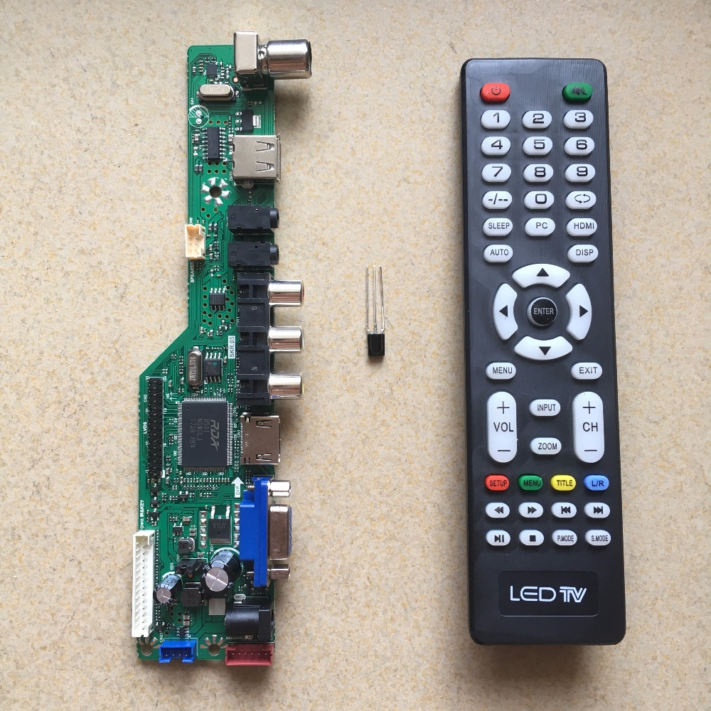 SKR.03 8501 Universal LCD TV Controller Driver Board with English remote control PC/VGA/HDMI/USB for V56 V59 V29 gender culture and politics in punjab a perspective