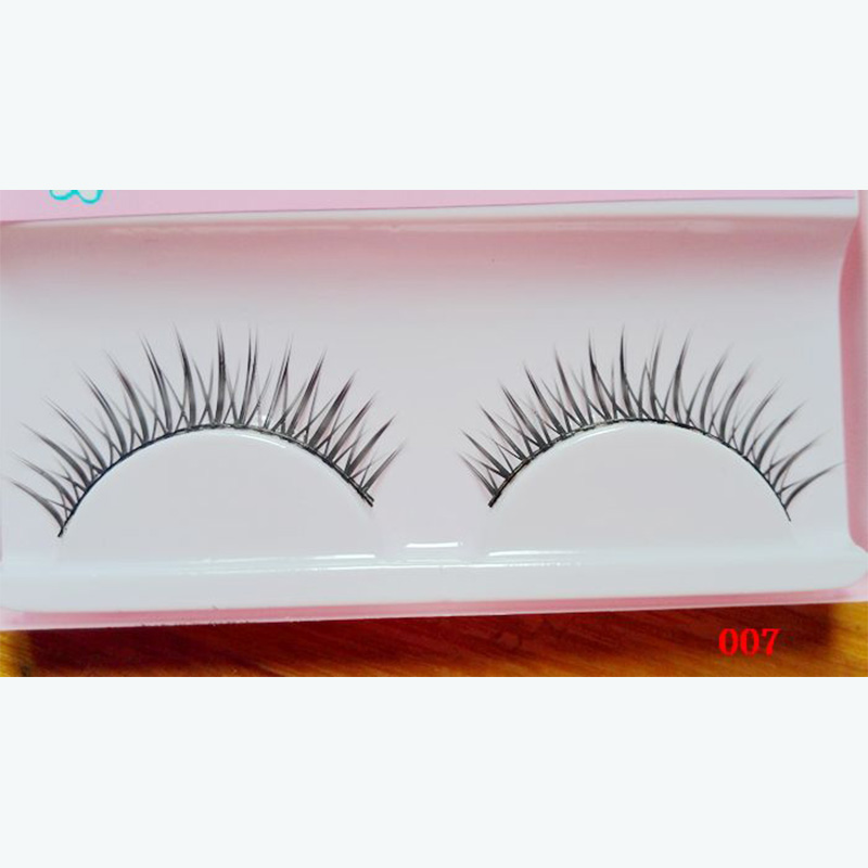Hand-made Natural Looking Long Thick Short Crossed False Eyelashes fake eye lashes makeup beauty tools 007#