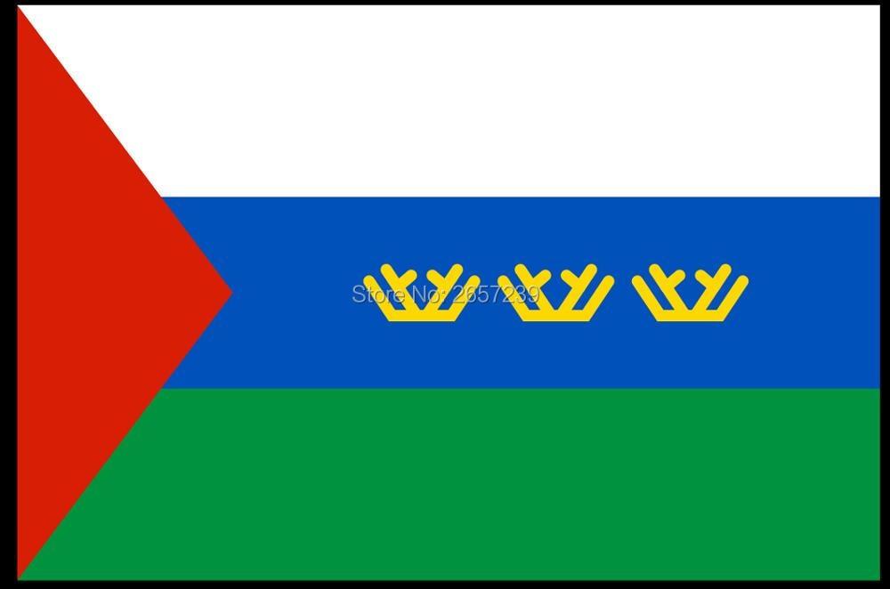 Tyumen Oblast flag statens flag Rusland 150X90 cm 100D Polyester3x5FT messing pakninger brugerdefineret flag, gratis forsendelse