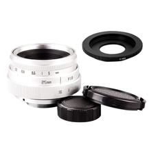 купить Mini 25mm F1.8 APS-C Television CCTV Lens +16mm C Mount Movie Lens to Sony E-Mount NEX Camera Lens Adapter по цене 1563.8 рублей
