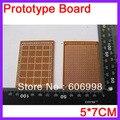 10 unids/lote 5*7 CM Junta PCB Prototipo Papel de Prueba Universal