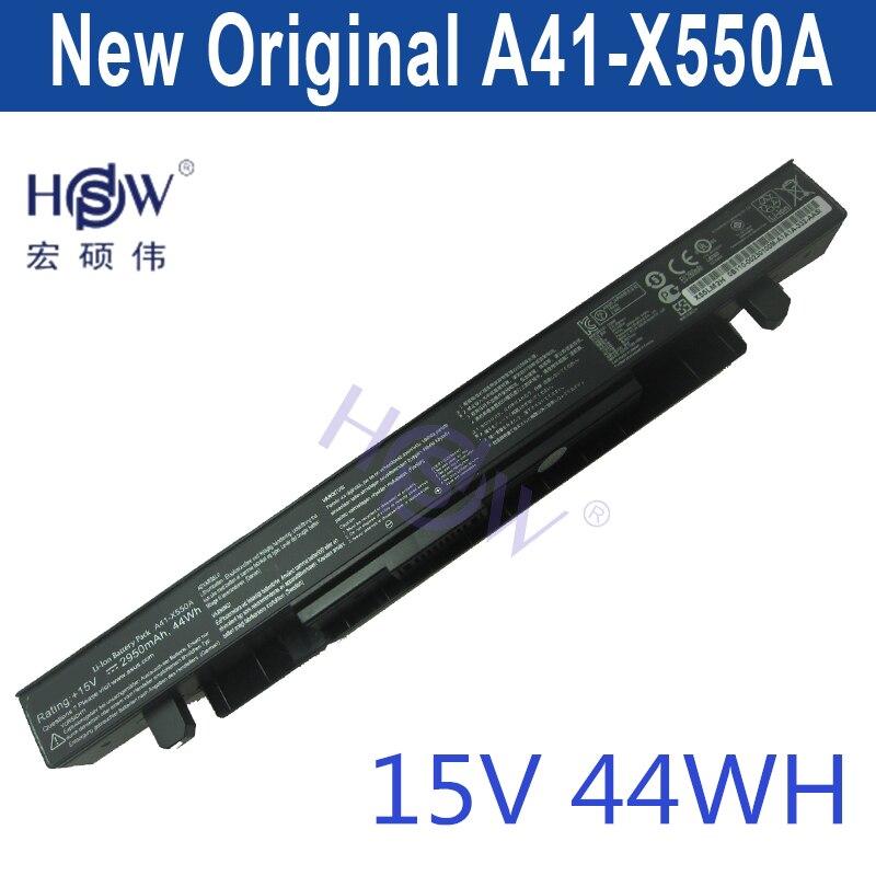 HSW Battery 15V 44WH for Asus X550C X550B X550V X550 A41-X550A LAptop battery bateria akku hsw laptop battery for tcl k4226 k4227 k4221 k4225 k4231 k4258 k4201 k4202 k4200 k43 haier w68 t61 a61 hasee f420s bateria akku