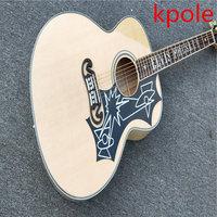 مصنع مخصص j200 الغيتار الصوتية الفيس بريسلي الفريتس تطعيم kpole sj200 الصوتية الغيتار الكهربائي القيقب
