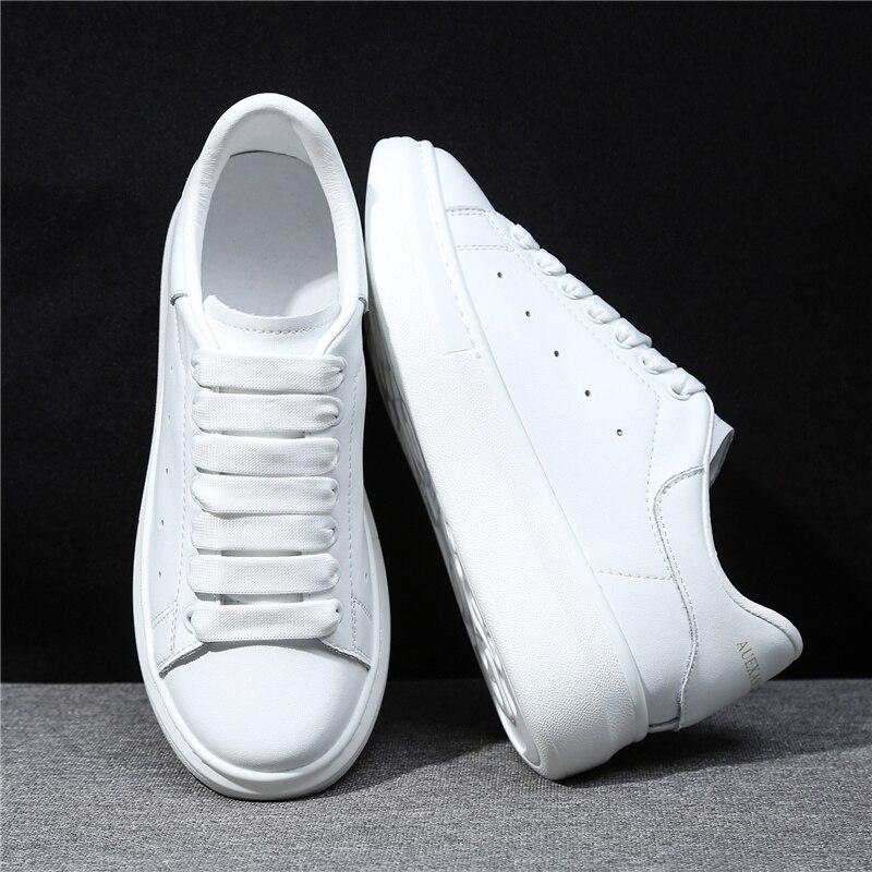 MORAZORA 6 couleurs 2019 nouvelle plate-forme en cuir véritable baskets femmes chaussures décontractées en cuir de vache classique petites chaussures blanches femme - 3