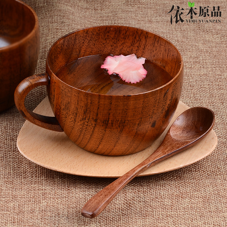 260ml Բնական ujուժուբե փայտե բար գավաթներով գորգեր ձեռքի գործով սուրճի թեյով կաթով ճամփորդություն Գինու գարեջուր գորգեր տան բարի համար