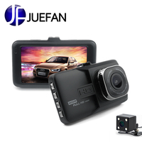 JUEFAN Registrar Car Camera DVR 1080P HD 120 Degree Dvr Car Mirror Camera Dual Camera Lens With Rear View Camera Dashcam
