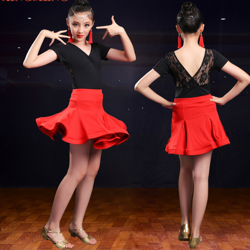 child kid children professional latin dance dress for girls lace patterns ballroom dancing dresses kids rumba cha cha costumes