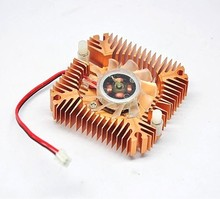 55mm 2 PIN Graphics Cards Cooling Fan Aluminum Gold Heatsink Cooler Fit For Personal Computer Components