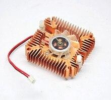 55 мм 2 PIN Графика карты вентилятор охлаждения Алюминий золото радиатора Fit для персонального компьютера Компоненты поклонников охладитель